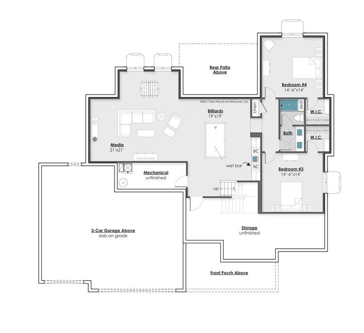 Lower Level Optional Finish - 1,920 Square Feet