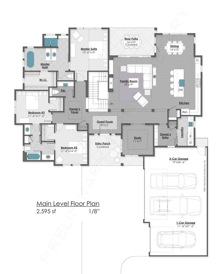 Main Level - 2,595 Finsihed Square Feet