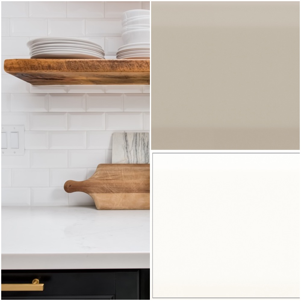 3x6 Beveled subway tile in glossy finish - choice of 4 colors