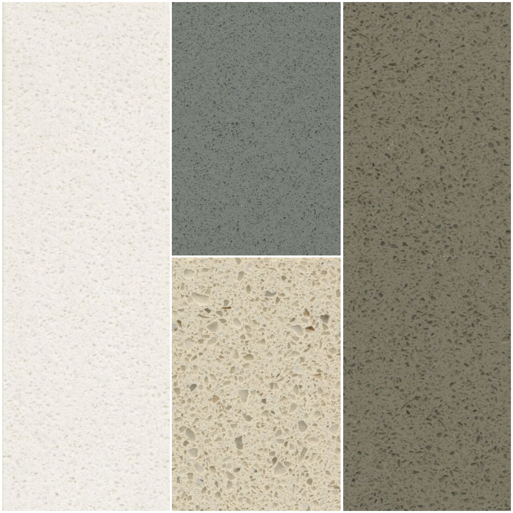 HanStone Quartz countertops - 4 colors to choose from as a standard with many upgrade options available.
