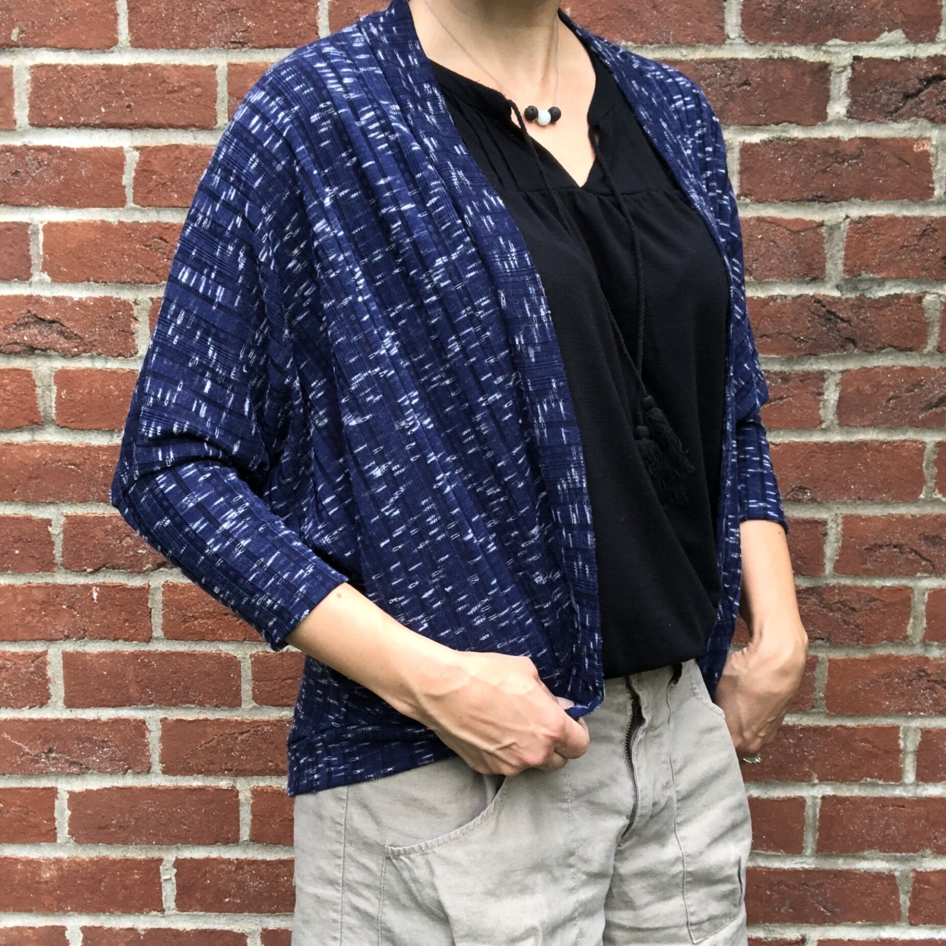Blue Carrie Cardigan