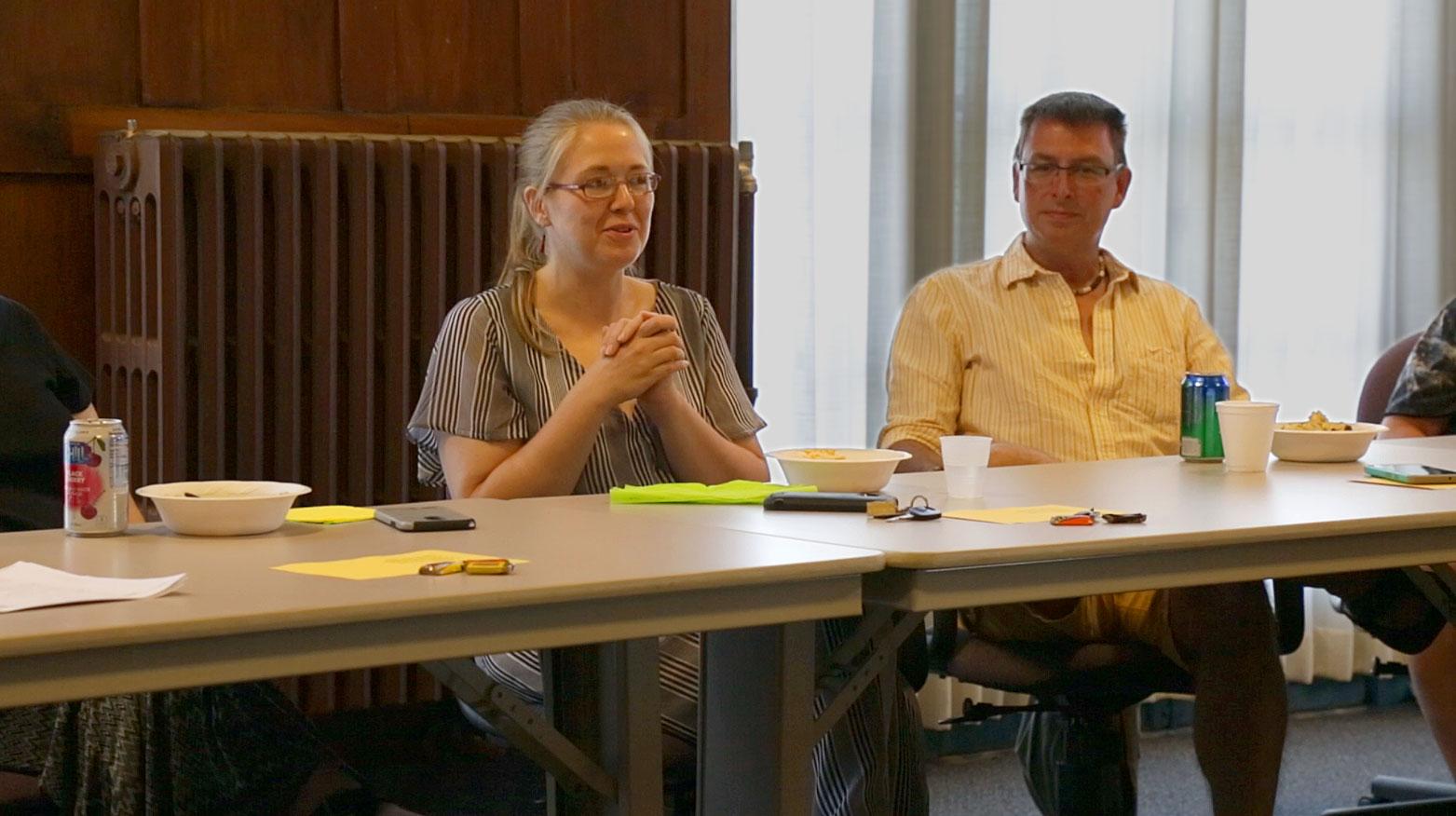 Artist Cohorts network at a LRAC meeting