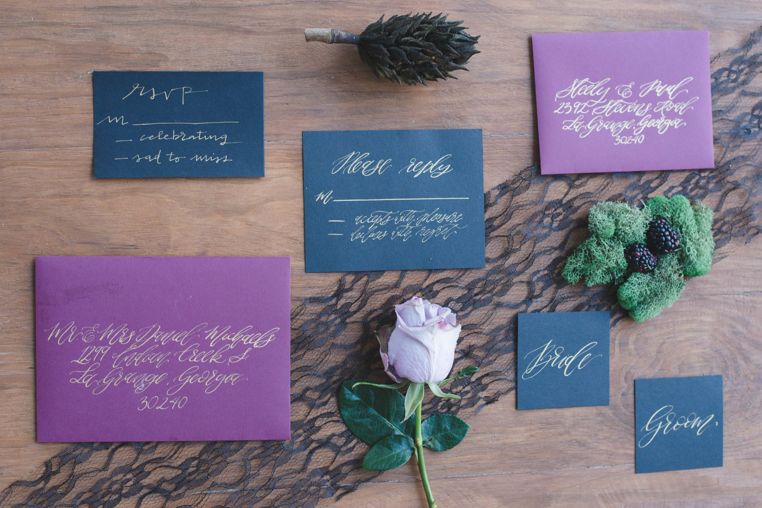 Invitation Suite for Halloween Inspired Wedding