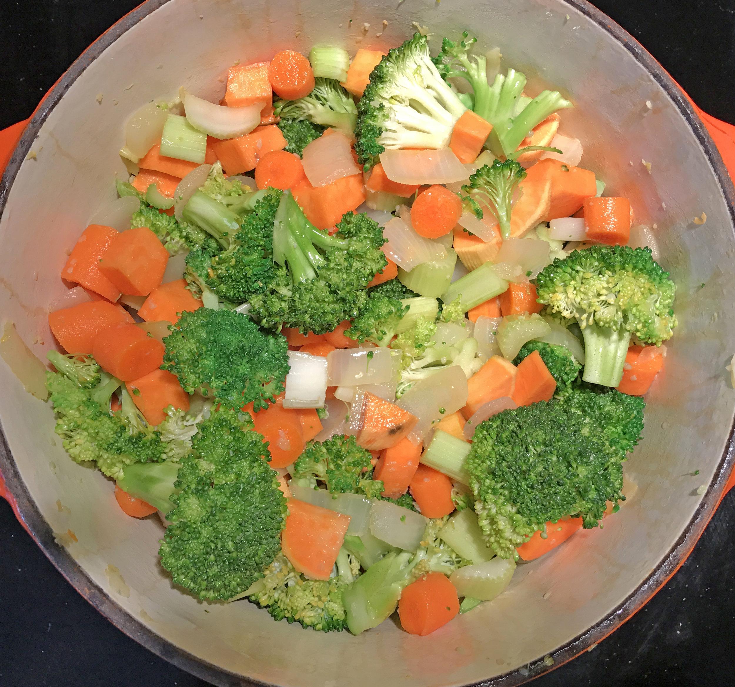 Veggie in pot