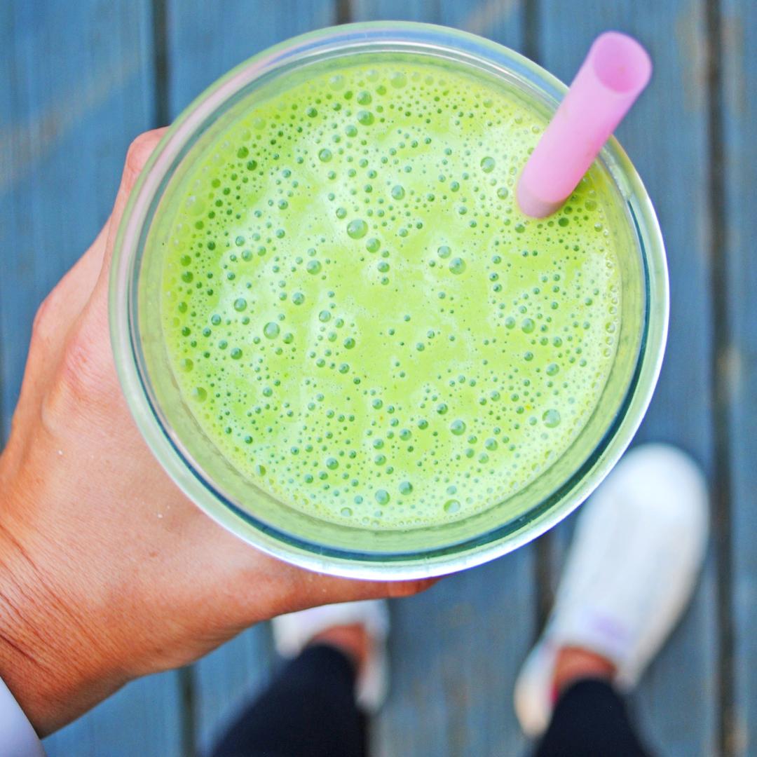 green tahini smoothie
