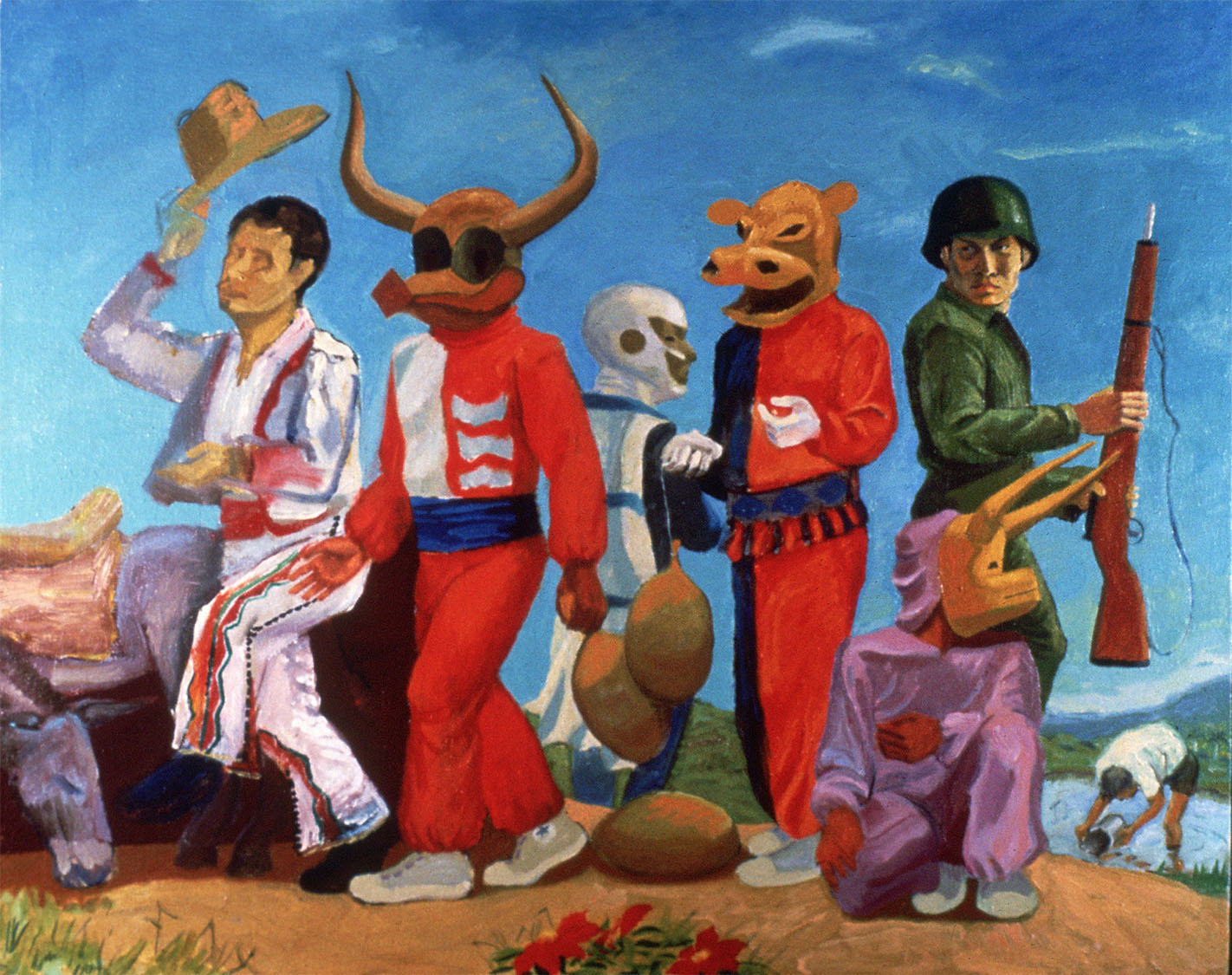 """Carnival Group , 1978. Oil on canvas. 22"""" X 28""""."""