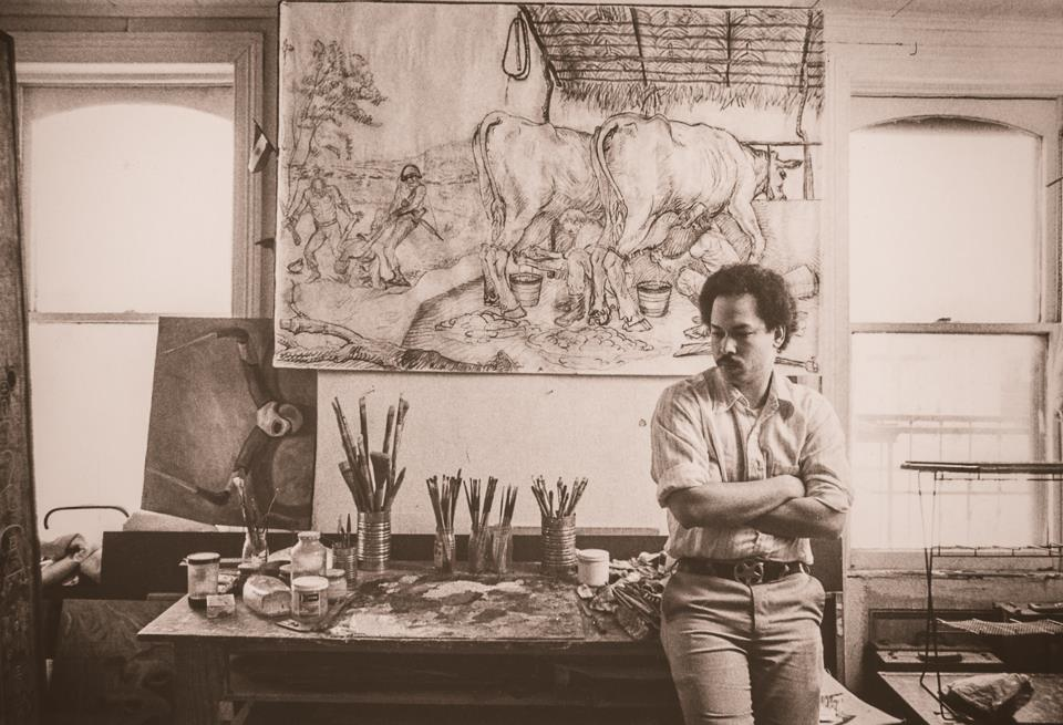 Manuel Macarrulla in his studio,  1983, Photo: B. Doktor https://www.bdocktorphotography.com