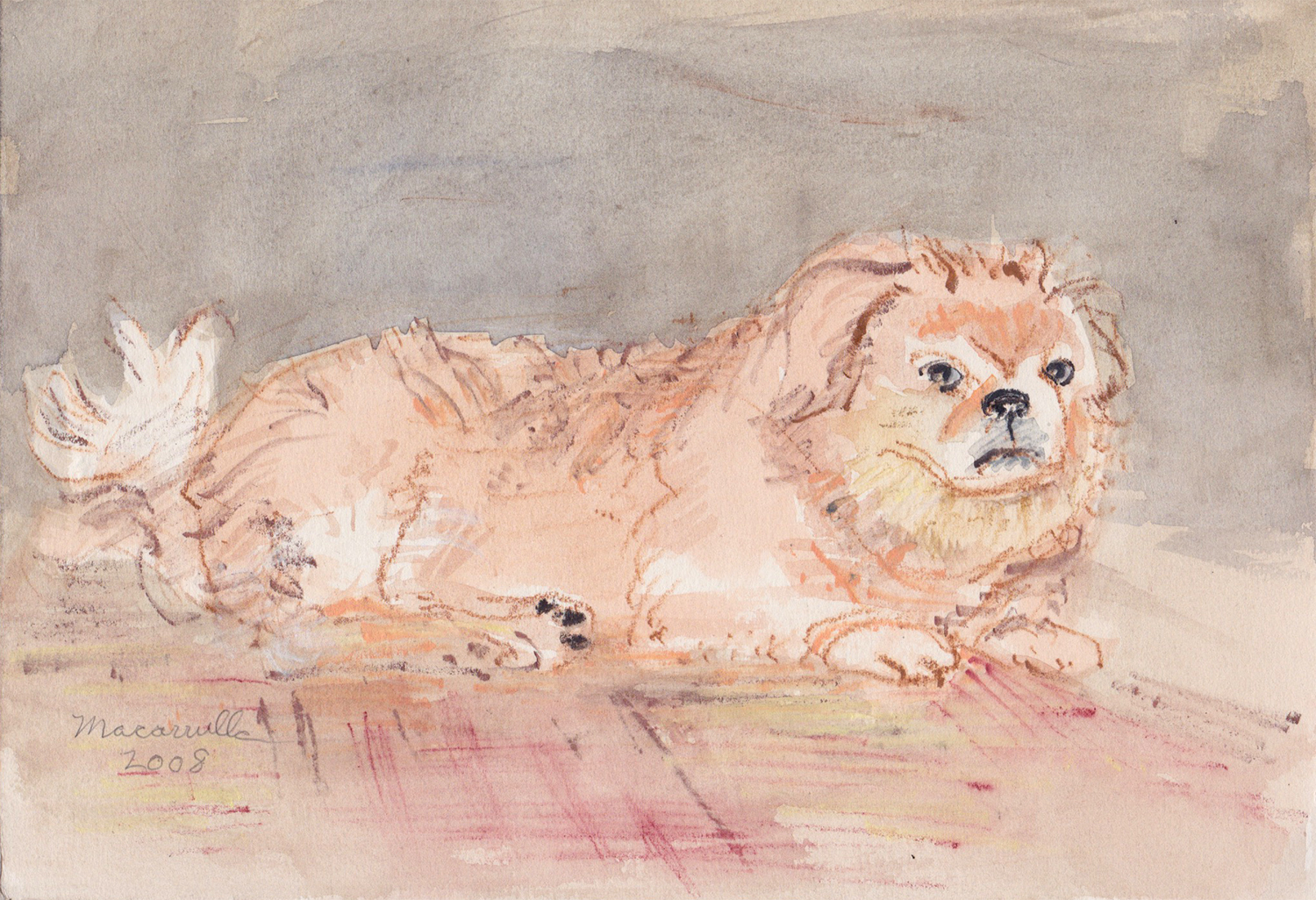 "Champ II,  2008 Water color, 7"" X 10 1/4"""