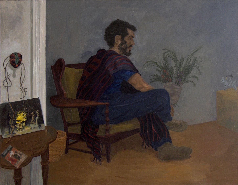 "Gary Heckelman, 1990. Oil on canvas. 30"" X 38""."