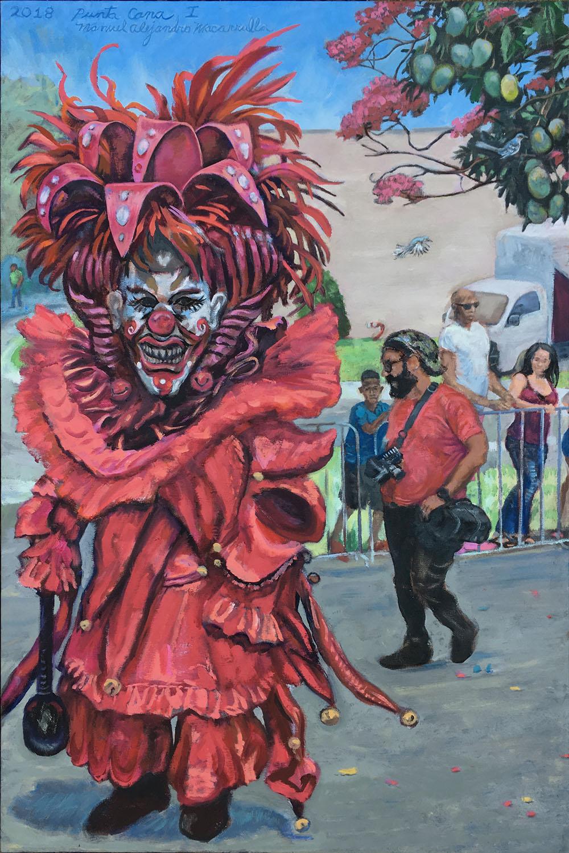 "Punta Cana I , 2018 Oil on canvas. 30"" X 20"""