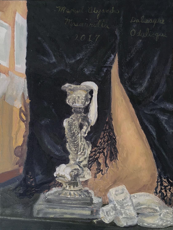 """Daliesque Odalisque, 2017 Oil on canvas 16"""" X 12"""""""