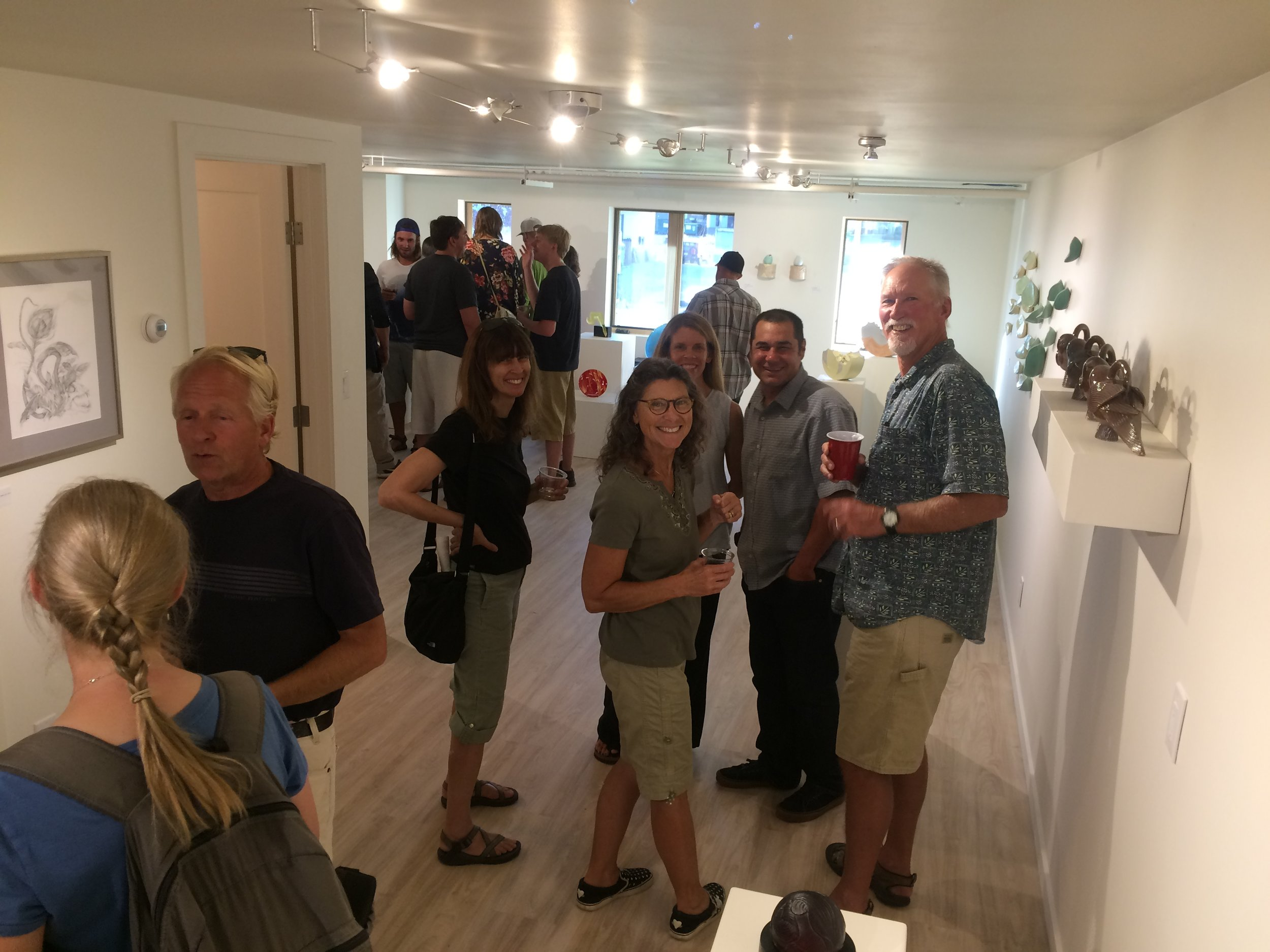 Grand opening of the Warehome Gallery in August 2016
