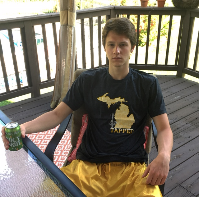 Sometimes the best thing to do in town is having a cold beer on your own deck. Dress for the occasion by picking up the Gateway Michigan Tapped Tee for $33.