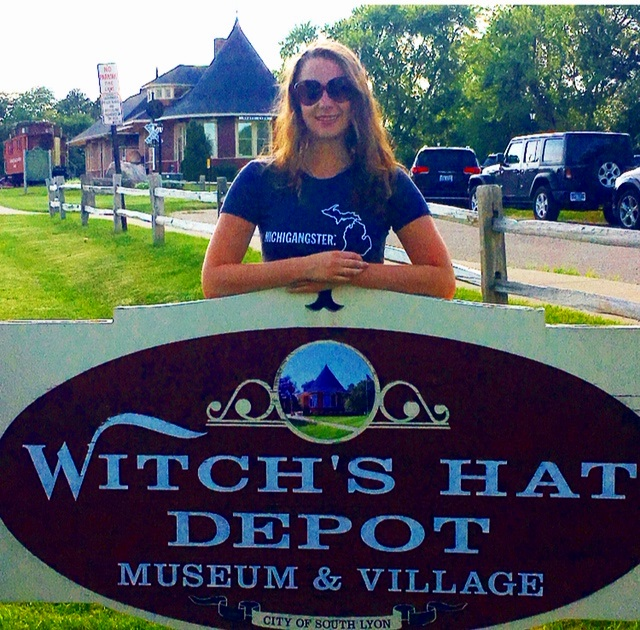 Is there a more iconic South Lyon spot than the Witch's Hat Depot? We love the old Witch's Hat just as much as we love the Michigangster Michigan Awesome Womens Tee, which sells at Venue for $28.