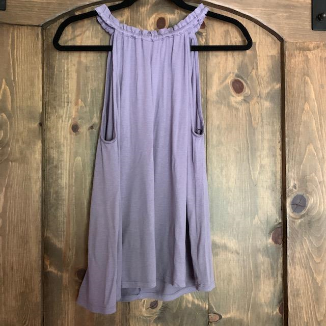 Pretty in purple💜 This $19 Lavender Halter Top is by Double Zero. Pick one up at Venue today!