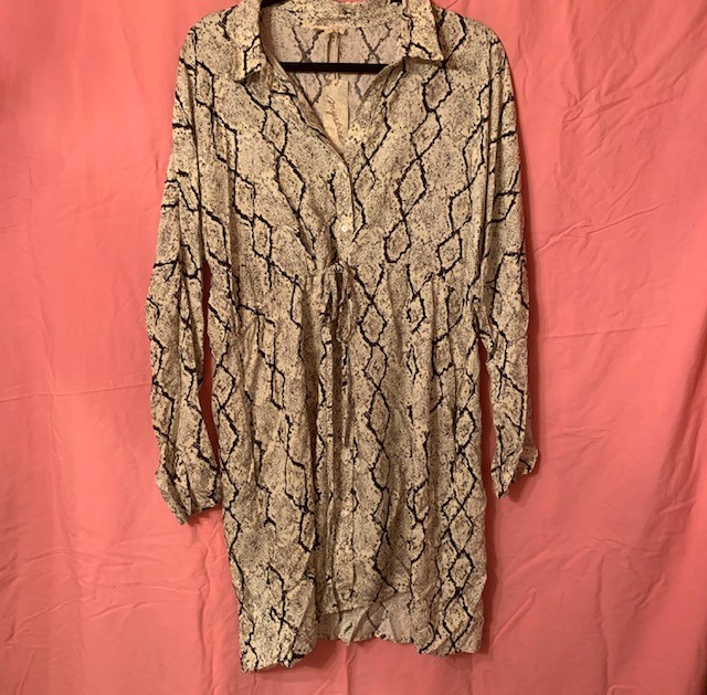 We're here for a versatile and fashion-forward dress. If you are too, grab the Mystree Animal Print Shirt Dress for $64.