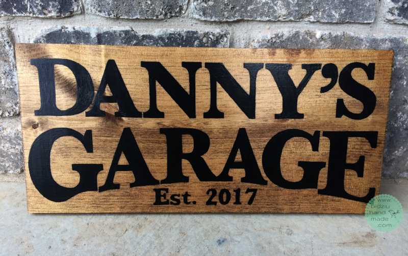 garage sign, hand painted wood sign, hand painted garage sign, signs for the garage, Father's Day gifts, Father's Day gift ideas, gifts for men, gifts for guys, gift ideas for guys, gift ideas for men, DIY wood sign, DIY garage sign, garage decor, garage accessories, car guys, hand painted sign, bidziuhandmade, bidziu handmade