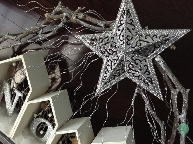 rustic Christmas decor, modern Christmas decor, rustic Christmas decoration, modern Christmas decoration, Noel, Noel decoration, white and silver Christmas, handmade Christmas decor, rustic holiday decor, modern holiday decor, winter decor, white Christmas, silver Christmas, bidziu handmade bidziuhandmade