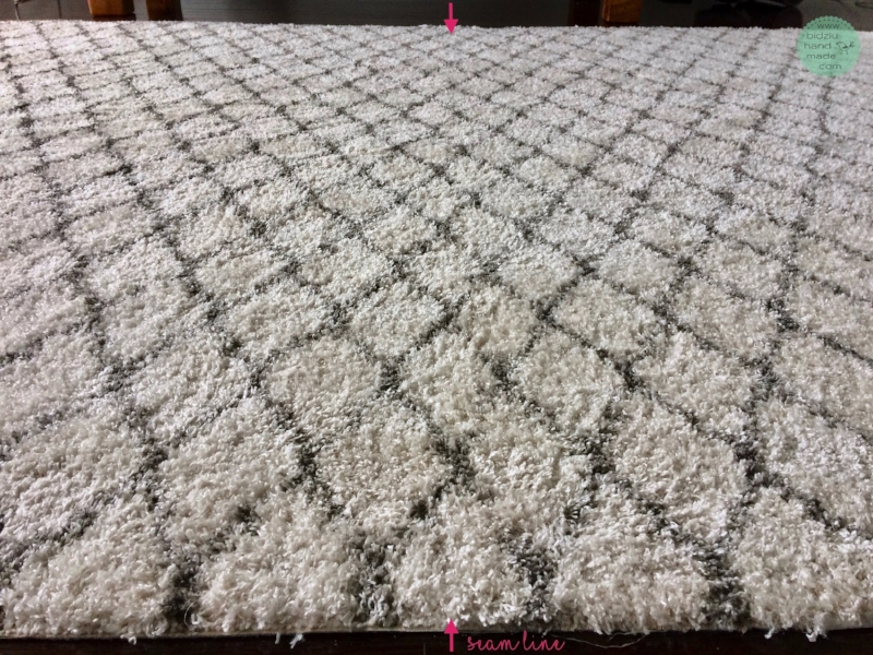 DIY rug, how to tape rugs together, how to attach rugs together, DIY custom size rug, area rug, dining room rug, shag rug, custom size area rug, rug DIY, rug tutorial, DIY rug tutorial, custom made rug, custom rug, living room rug DIY, modern rug DIY, bidziu handmade, bidziuhandmade