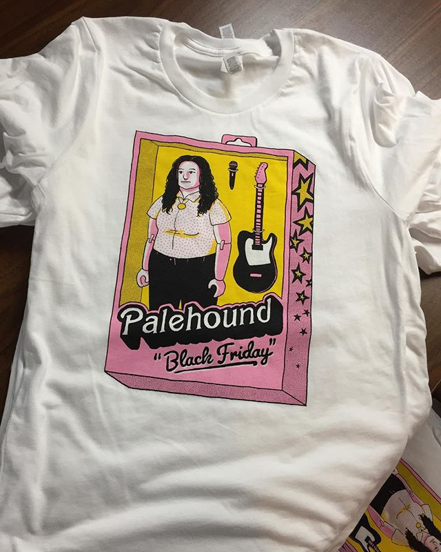 Three color prints on Bella Canvas tees for @palehound . Check out their two new songs steaming now! #palehound #unionscreenprinting