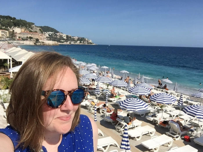 A perfect afternoon on the beaches of Nice, France