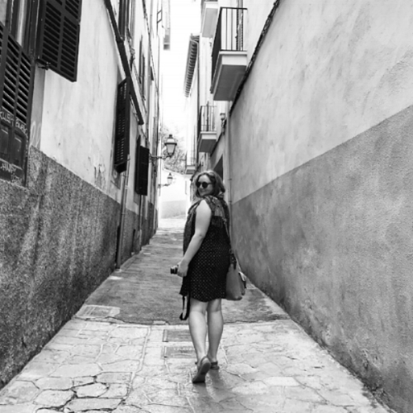 A rare moment when I'm not the one behind the camera... in Palma de Mallorca, Spain