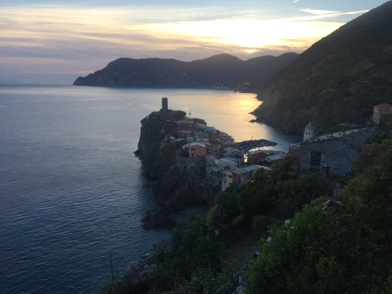 """The view from the Vernazza hiking trail in """"Cinque Terre""""..."""