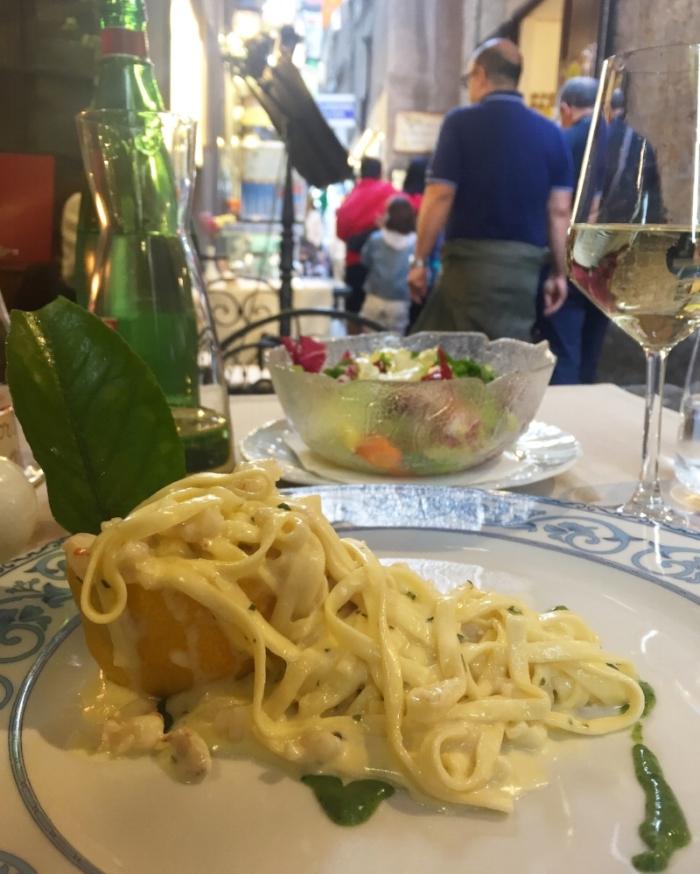 Lemon pasta for days... literally. In the Amalfi Coast...