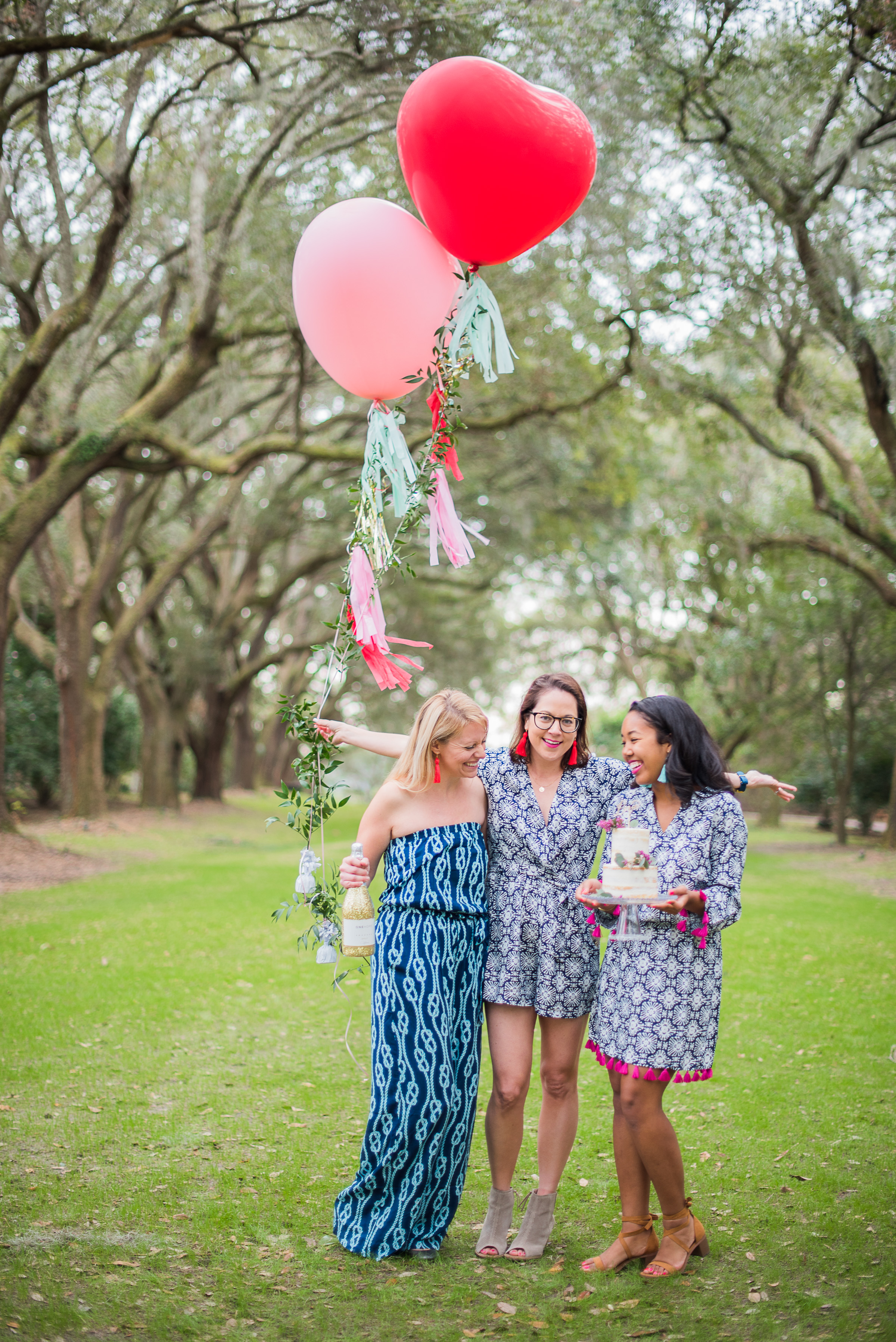 Melissa From The Blue Root, Liz From Charleston Weekender & Mimi From The Tiny Tassel