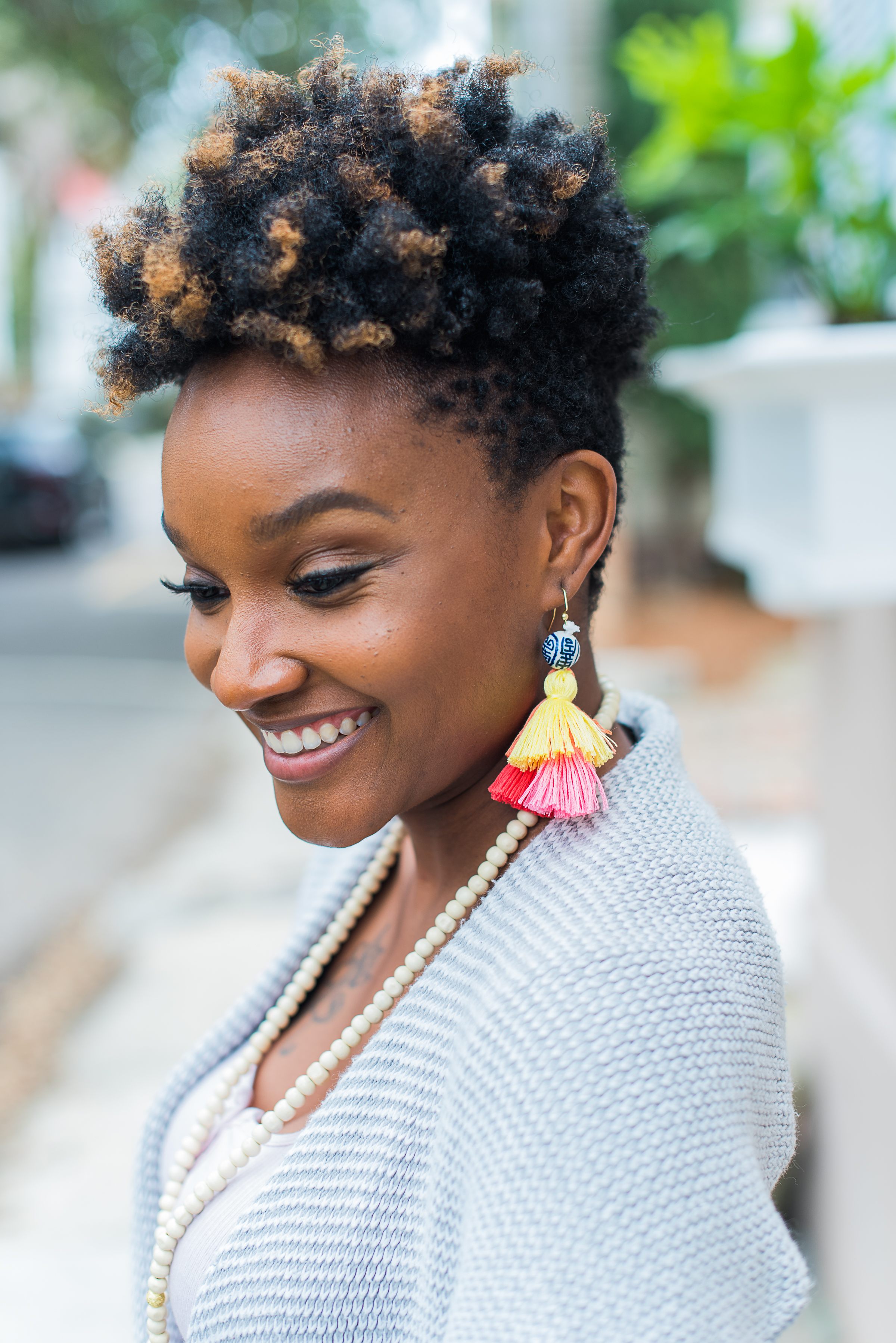 Aneris Photography   Alyshia of Addie J. Beauty looking gorgeous in our new Greenhill tassel earrings!