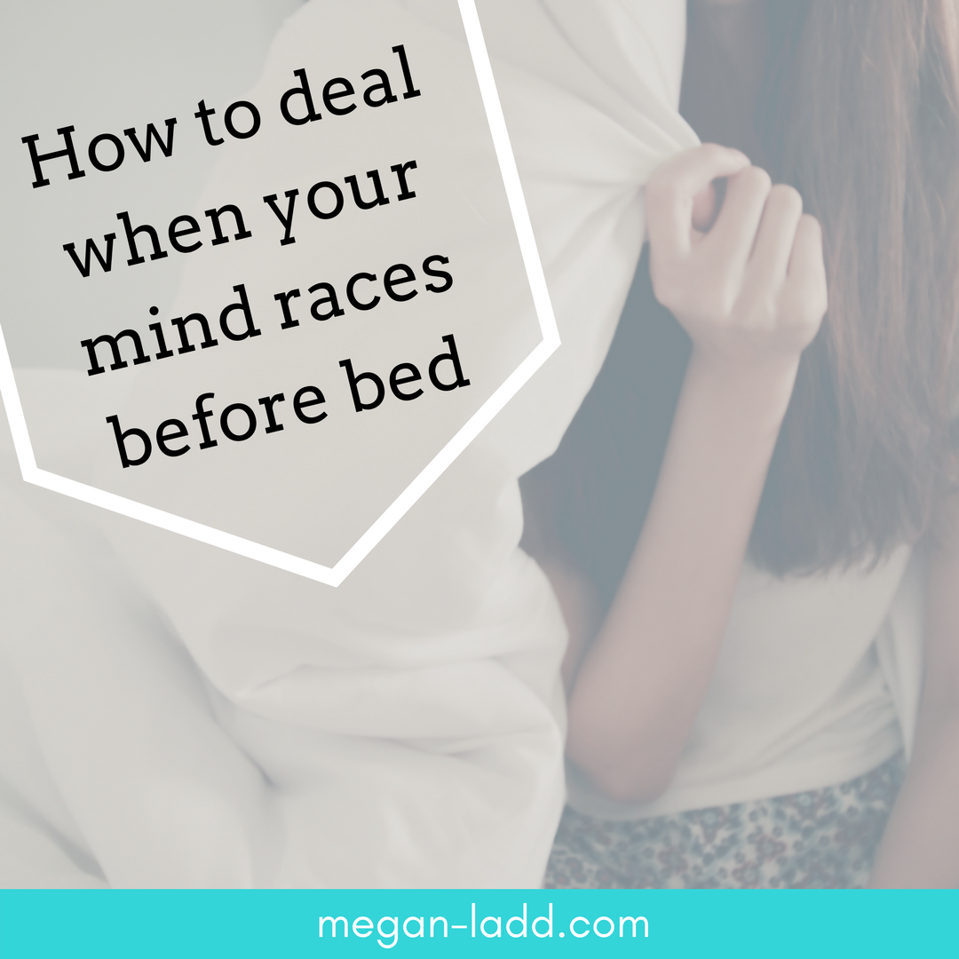 Do racing thoughts rush in right as you're trying to fall asleep? Learn an easy process to calm your mind and make your time before bed more relaxing and enjoyable