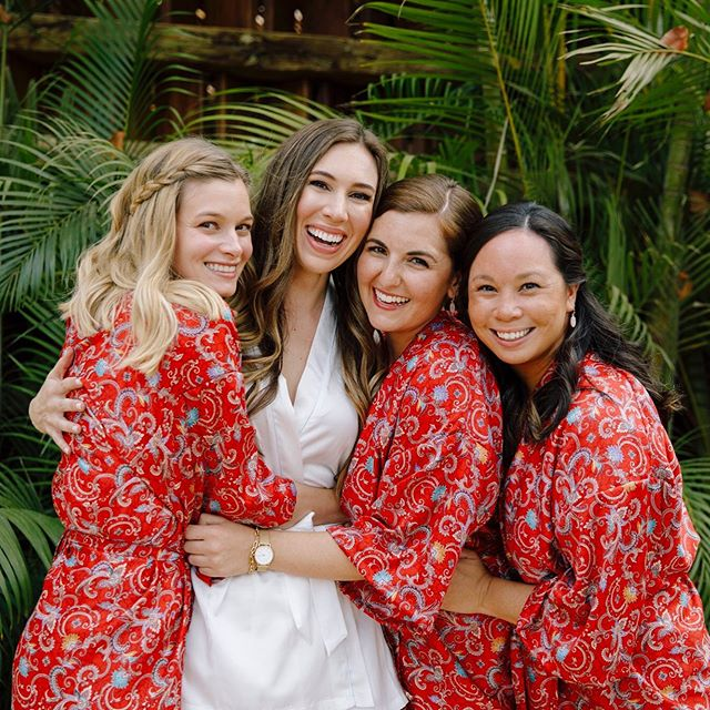 Happy #NationalBestFriendDay! 👯‍♀️ . Couldn't let this day go by without a shoutout to my three incredible maids of honor: Lauren, Deborah, and Becky ❤️ . They went above and beyond to make my bridal journey (and wedding day!) an adventure I'll cherish forever 👰🏻 . But beyond that, they've filled my entire LIFE with so much love and laughter. Together we've experienced life's highs and lows, and I know I can count on them to be there for me forever.  These girls are my sisters — my chosen family! ☺️ . 📸: the talented @evgeniakostiaeva