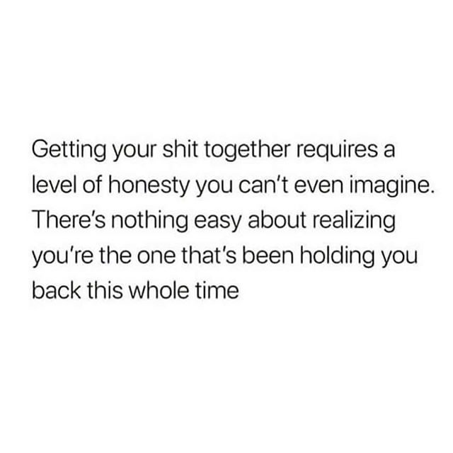 """#Truthbomb alert!  I am so feeling this right now!  Andddd, here's what I'll say:  If you've been holding yourself back, and you realize this, and you're like """"oh sh*t, I've got more work to do on myself than I realized"""" or """"Really?! This is STILL coming up for me after all the work I've done on myself??""""...know this:  There is nothing wrong with you.  Truly.  Honestly.  Nothing.  You've come so far. You know you have.  And having more room to grow isn't a bad thing.  Hopefully you're always growing. That's part of the grand adventure of being alive, isn't it?  Life without growth is incredibly boring.  I know how easy it is to beat yourself up when you realize you're the one getting in your own way.  In some ways, in can be a heartbreaking realization...if you let it.  I want to stop you from going down that rabbit hole, because it is entirely optional.  Even if it feels automatic and every part of you wants to be like """"WTF if wrong with me! I should know better!"""" (Lookin at you, fellow coaches)  The truth is we all have our stuff that we're working through, and we're all human.  Nobody (I repeat, nobody) is exempt from experiencing the full range of life experiences and emotions that come along with that.  So if you're over there wondering where the heck to go from here, I invite you to start with gentleness. Practice being incredibly kind to your heart when it's in this raw and tender place.  And, if you're a coach, ask yourself: what would I say to a client if they were feeling this way? How would I show up for them and support them through this?  And then hold yourself in that loving energy of compassion and non-judgment. You don't have to fix anything, because you aren't broken. You're just a human being, being presented with another opportunity to evolve and expand.  Sending love 💖 . 📸: @alexipanos"""