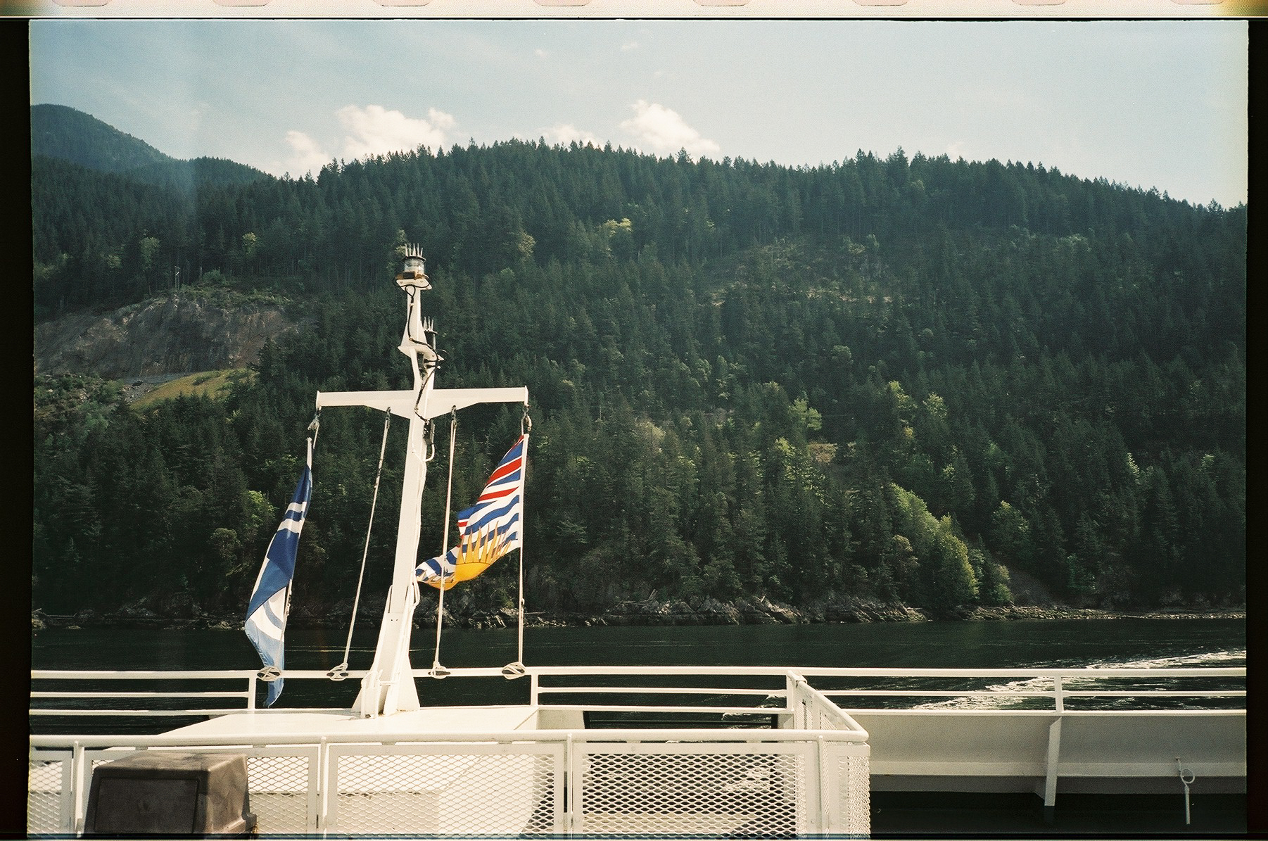 Departing Horseshoe Bay, looking back at the Sea to Sky Highway