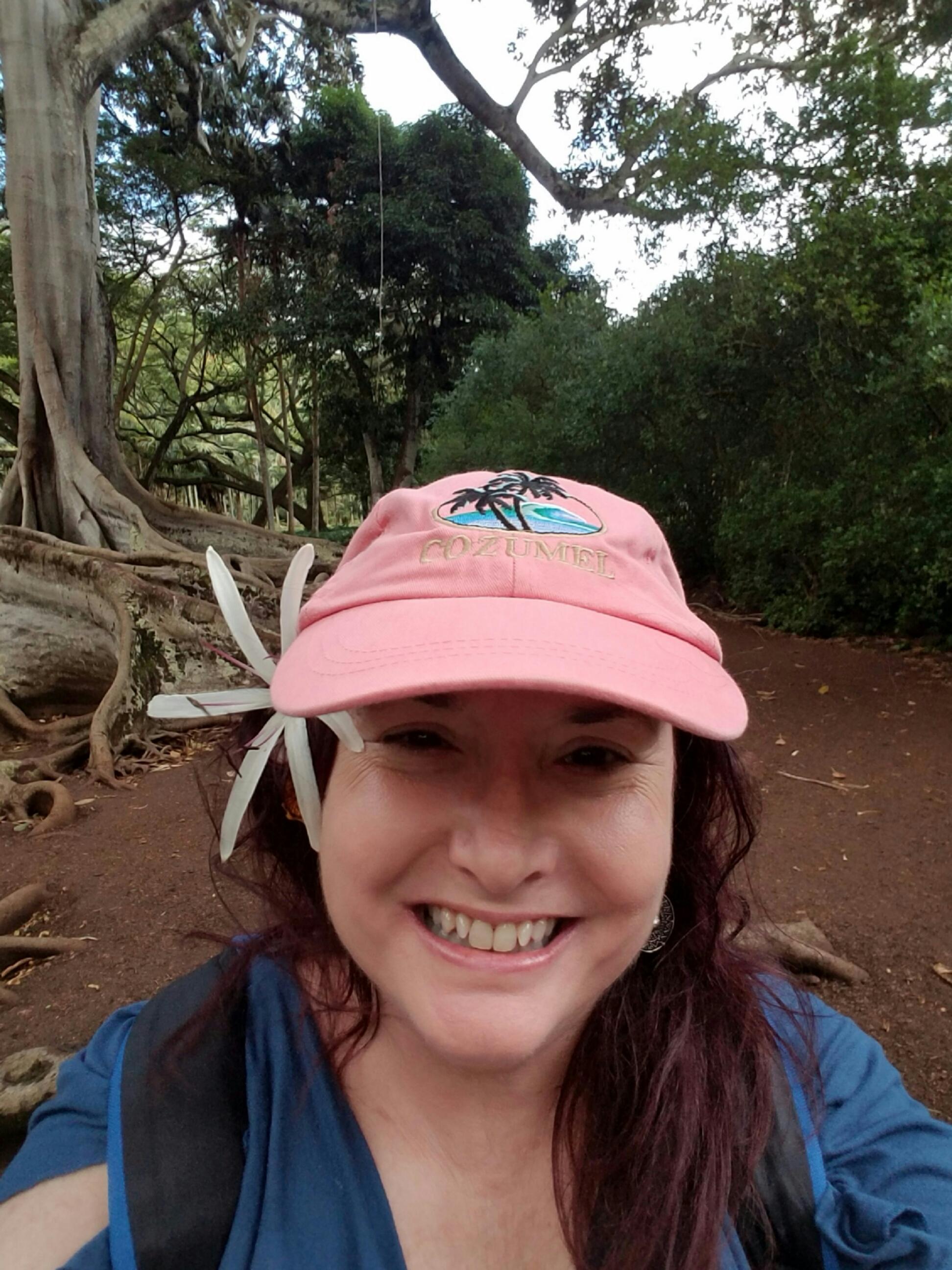 Mama Yardful enjoying the flora of Hawaii!