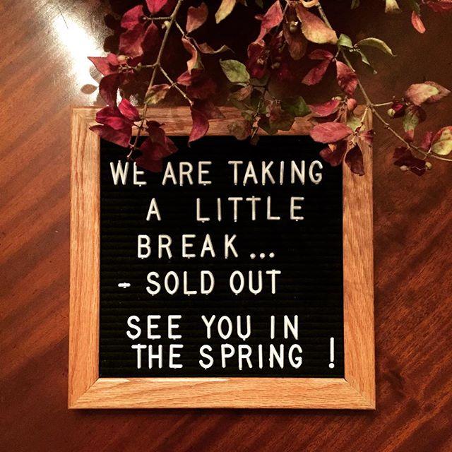 #winterbreak #soldout #dutchesscountyfarm #hudsonvalley #lifeatthefarm #lookingforspring #farmerlove #byefornow