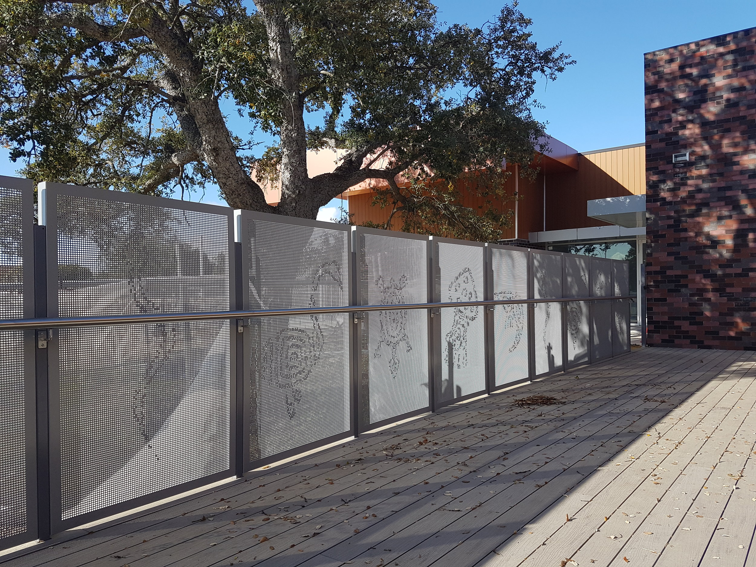 Manning Community hub Pact Construction pic perf aluminium perforated screen stainless steel handrail.jpg