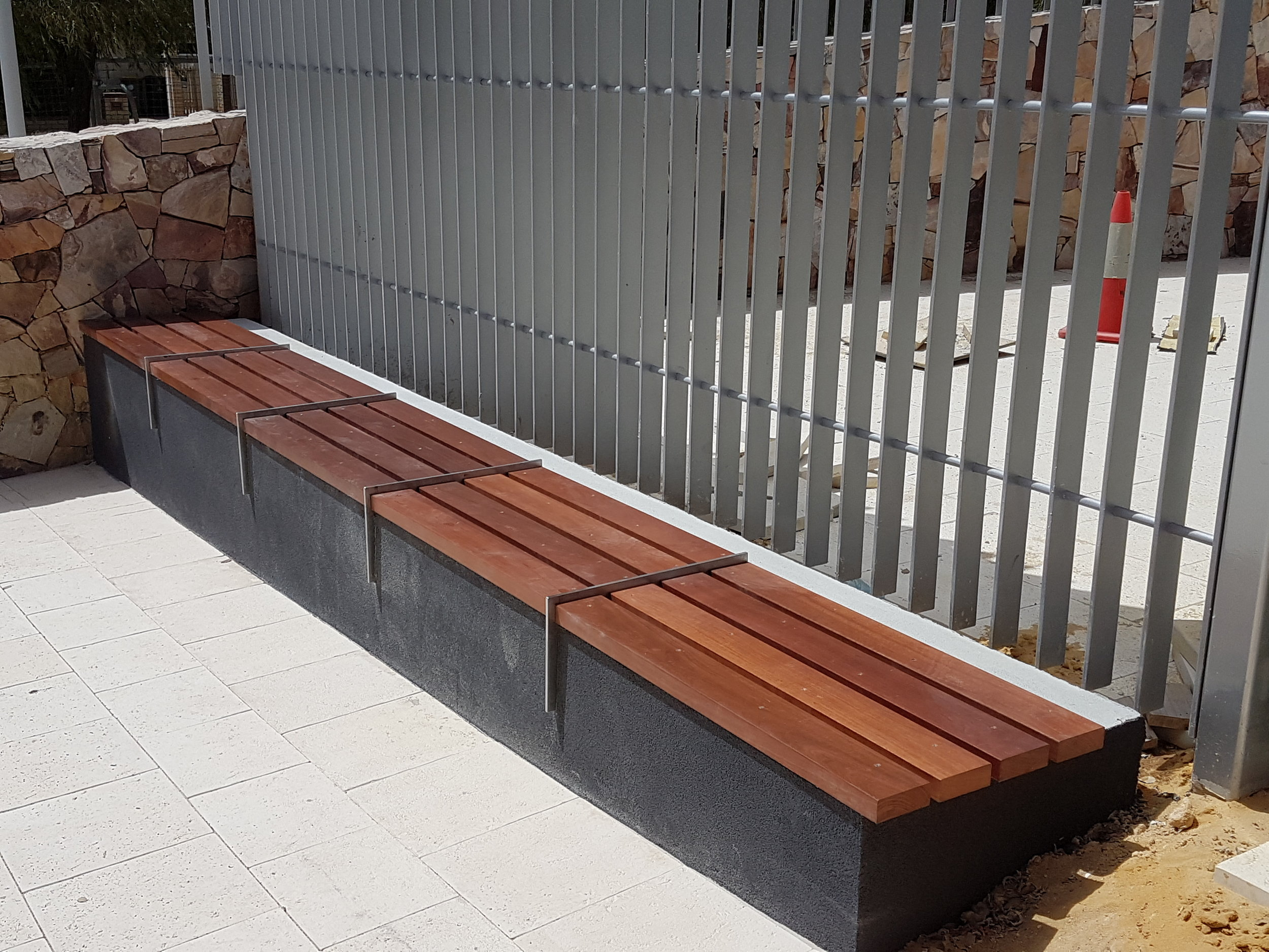 Manning community hub  timber seat and fence.jpg