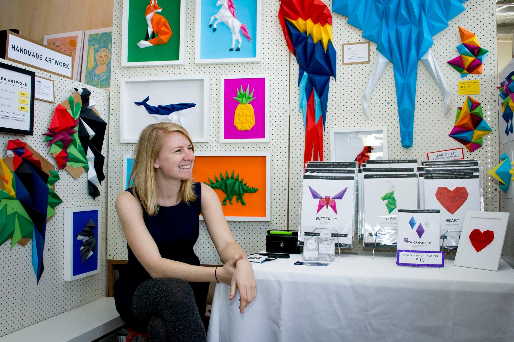 Origami workshop - GOST is pleased to be participating again in the DESIGN Canberra 2018 Festival from 5 - 25 November. This year we have partnered with the fabulous artist Anna Trundle who makes paper craft objects & she will do a little workshop to show visitors how to make a small origami work. Visit here for more info on date & time.