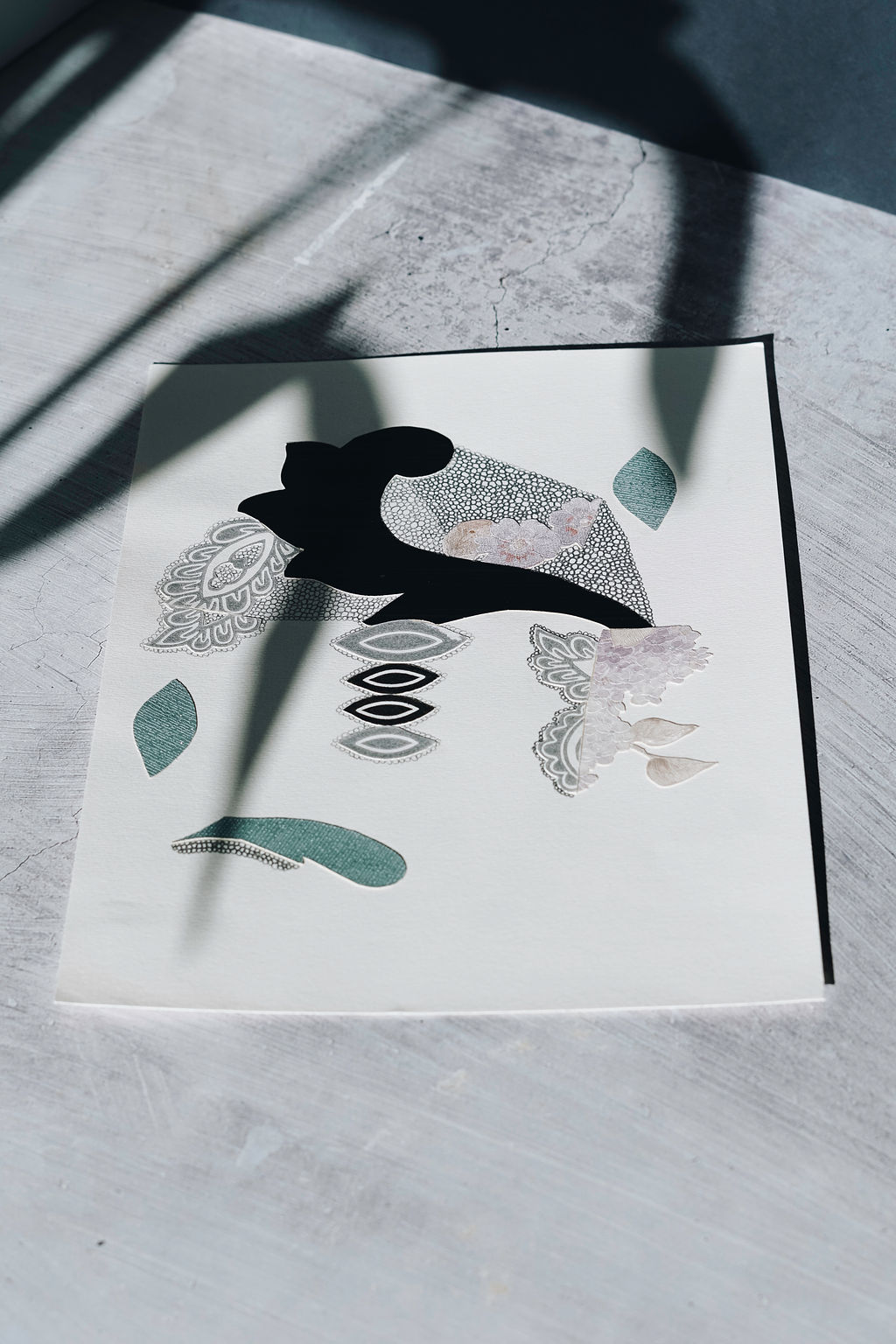 - A little peek from Katherine Marmaras and she is a collage, print, ceramic & textiles artist whoI met on Instagram. If only we lived closer as I imagine lots of coffee & catchups. We have three of her works on paper from the Morphe series. They are available online or in person.