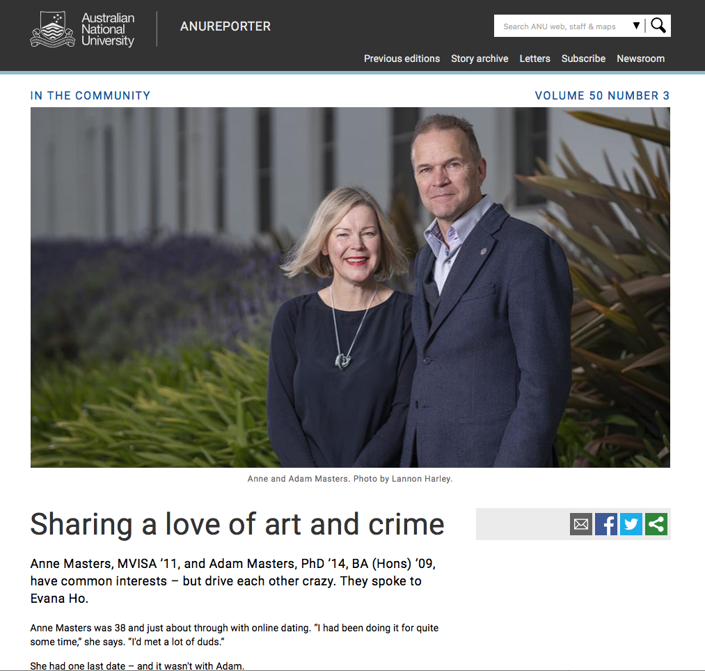 Sharing a love of art and crime - ANU Reporter
