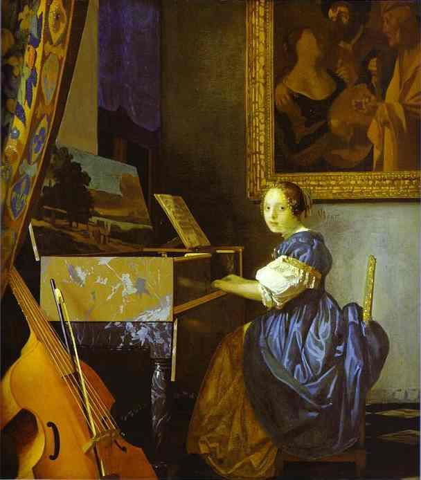 Lady Seated at a Virginal Jan Vermeer.JPG