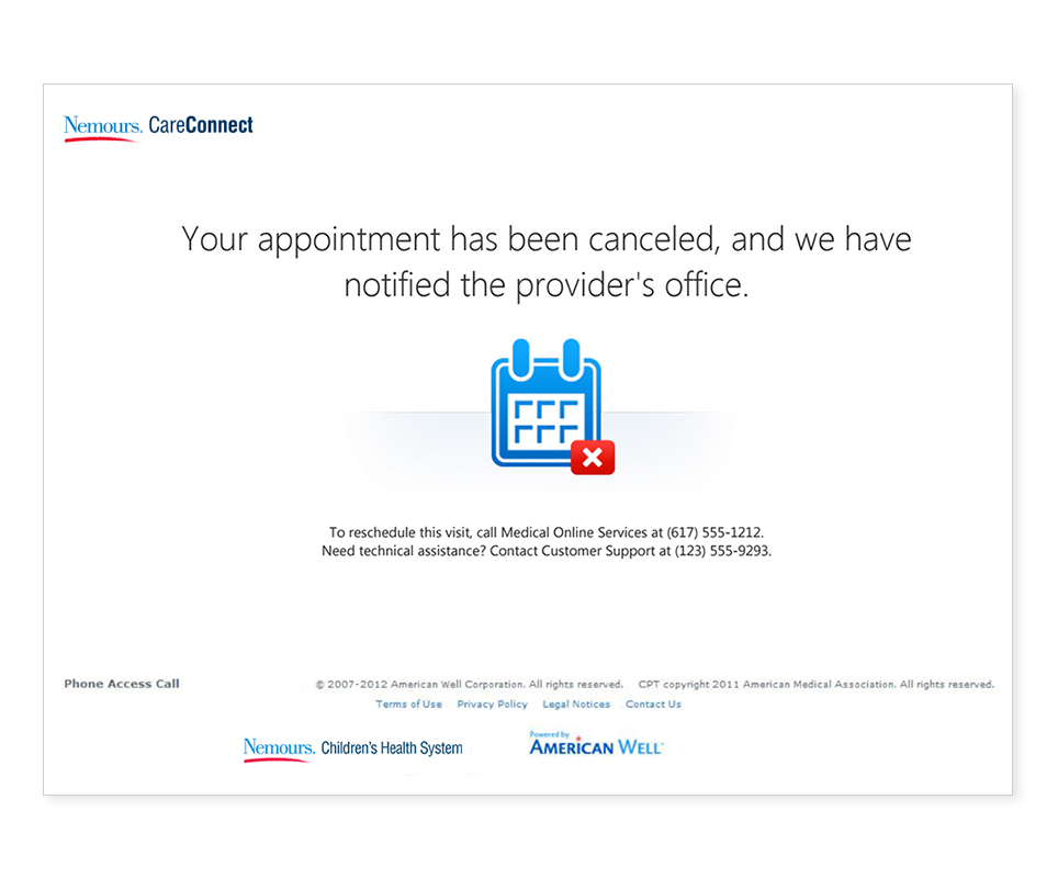 Appointment Cancellation