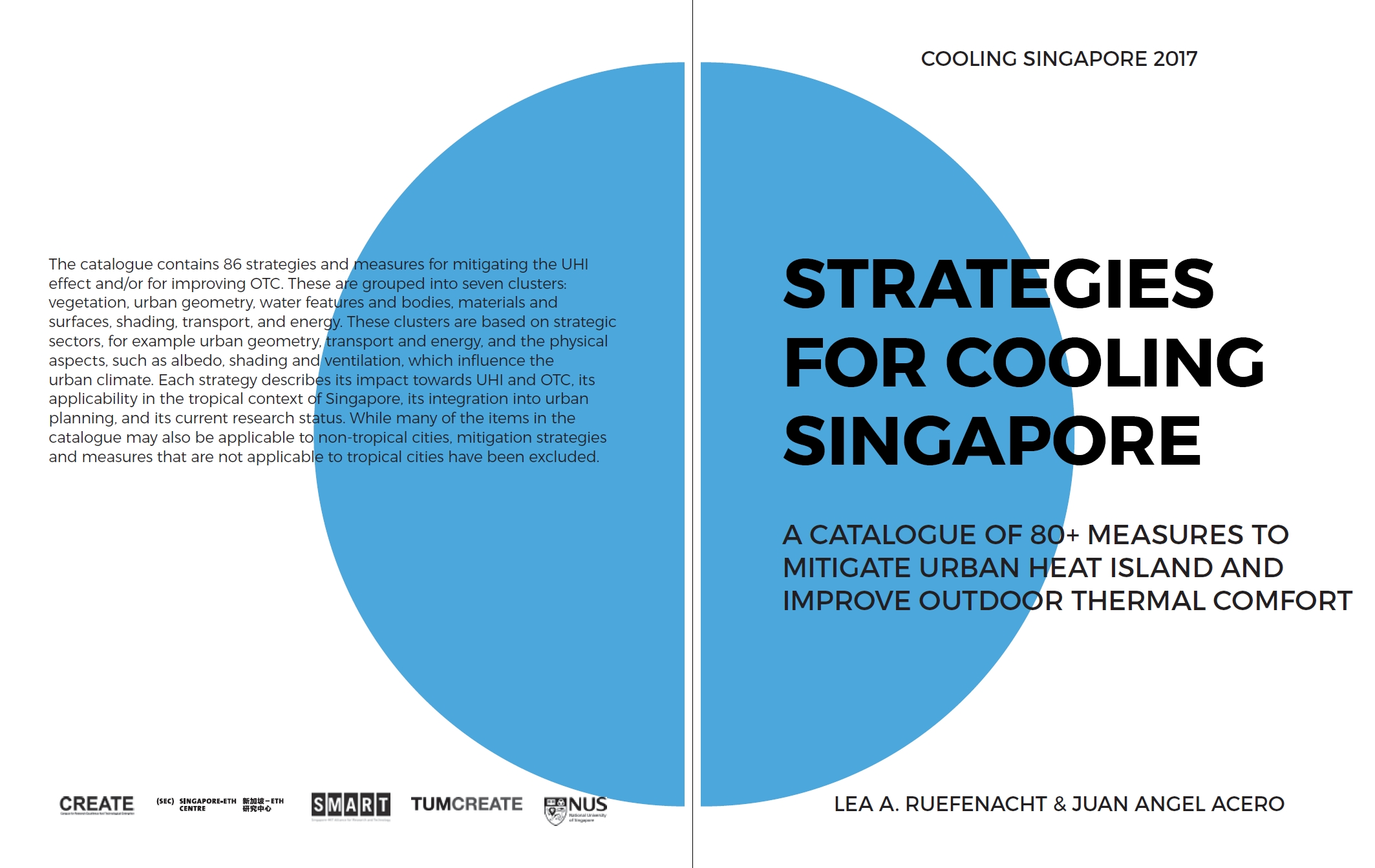 Fig 1. Strategies for Cooling Singapore: Catalogue of more than 80 measures to mitigate urban heat island and improve outdoor thermal comfort / Source: Lea Ruefenacht