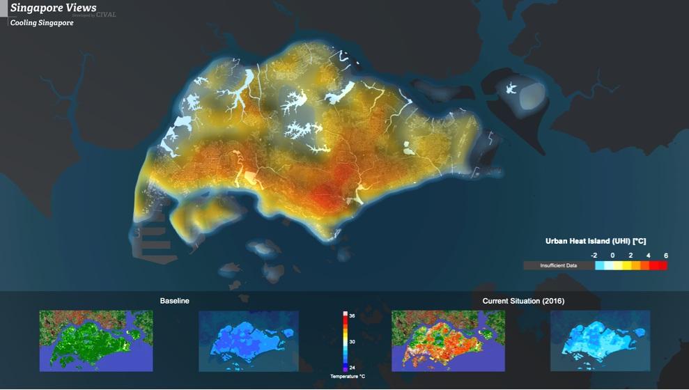 Mapping the urban heat island