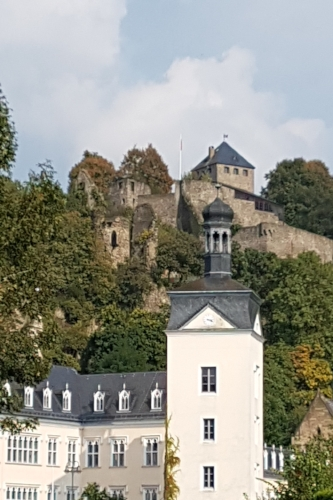 Sayn Schloss and fort above.