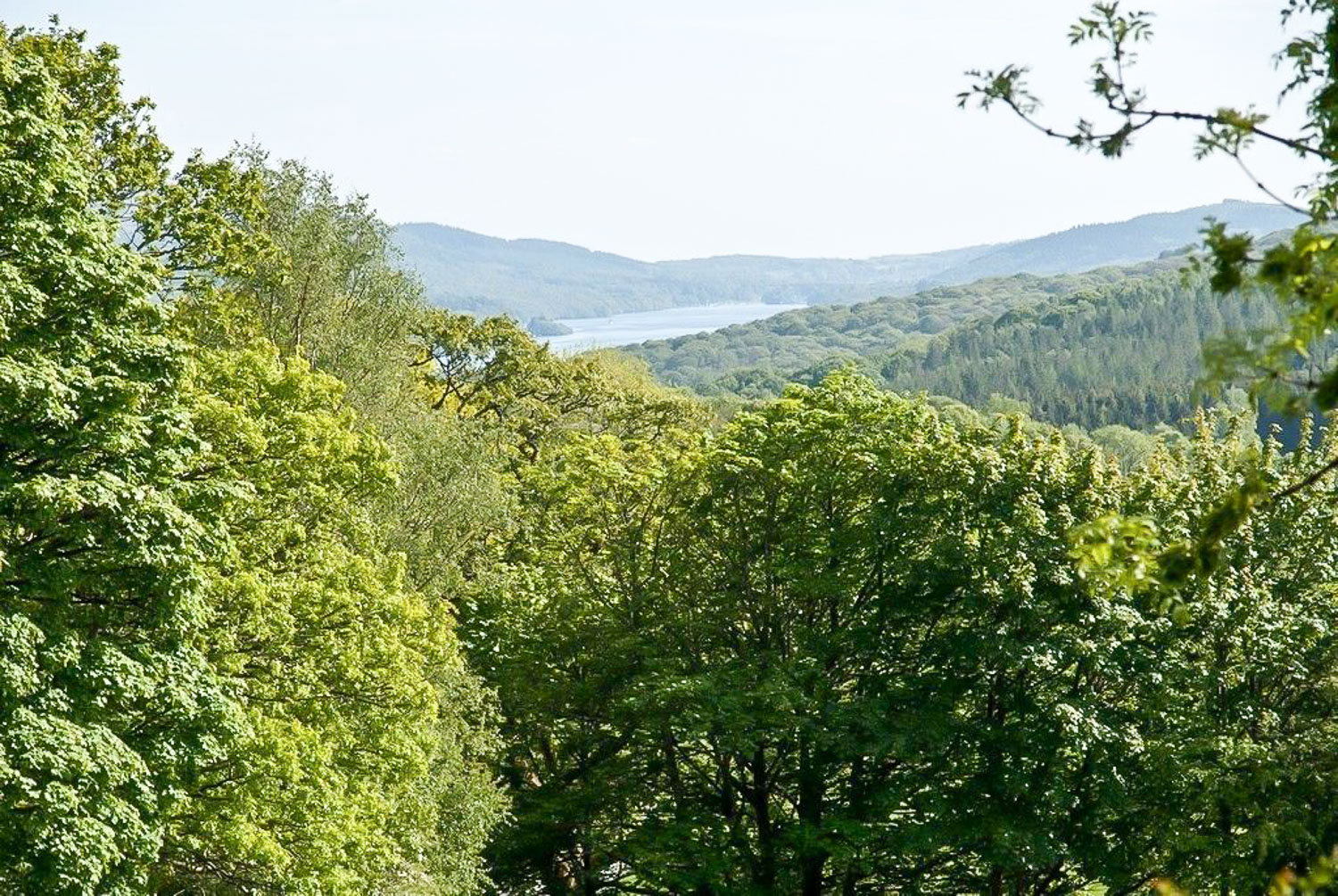 Here in Summer you can see Lake Windermere in the distance from the Patio, from the Lounge and from the Kitchen.