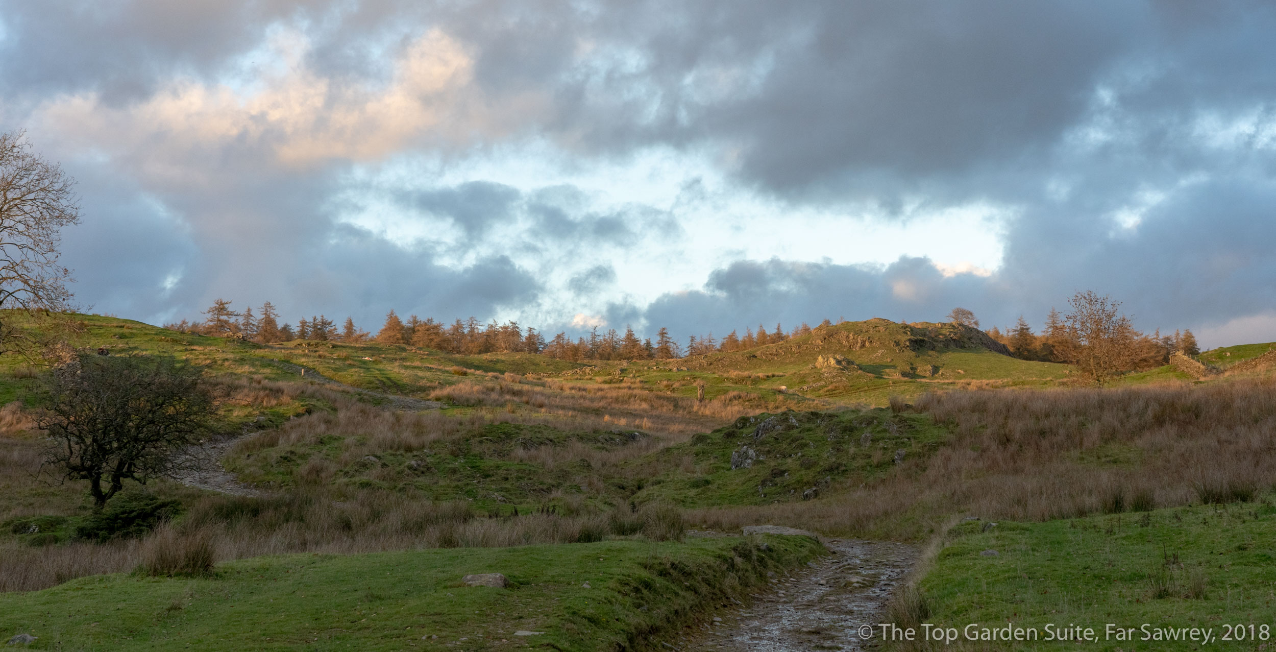 The path from Moss Eccles Tarn