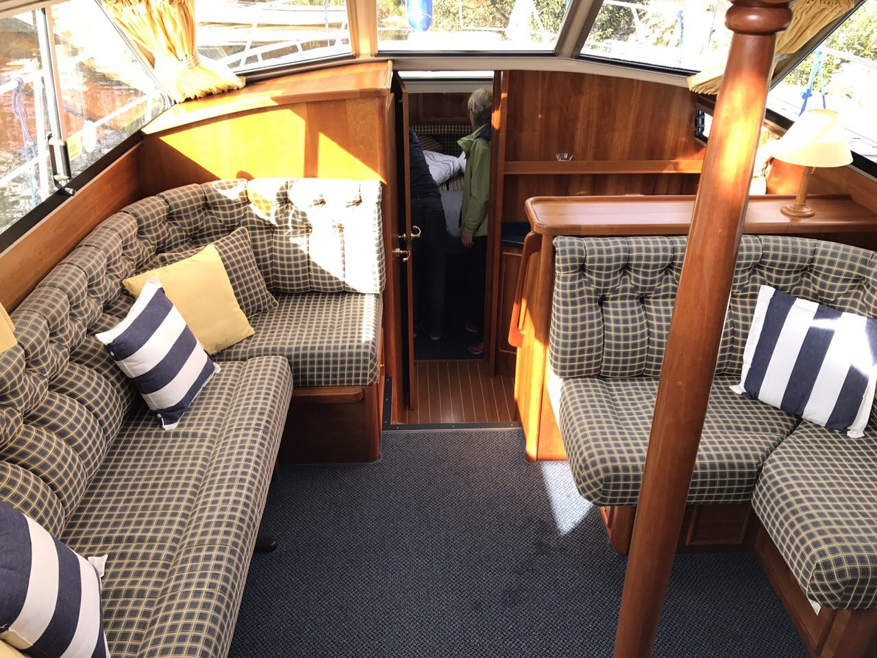 Inside our river shannon hire boat