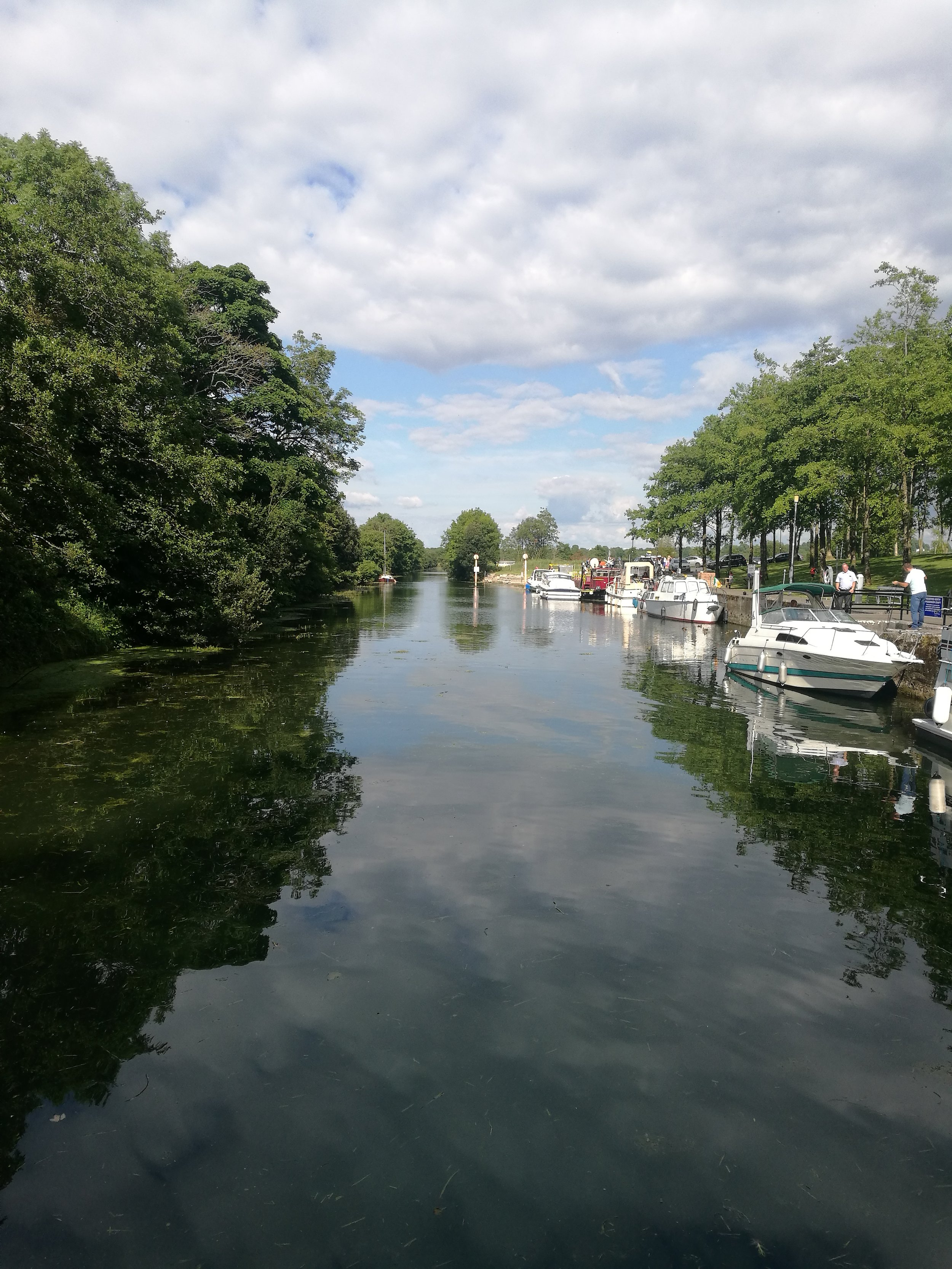 Leacarrow canal on Lough Ree, Ireland